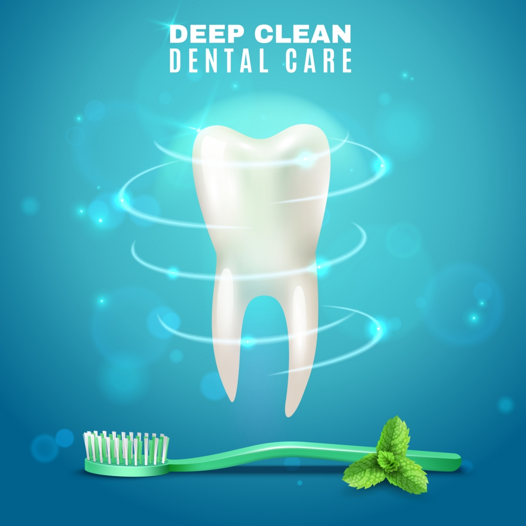 Deep cleaning teeth