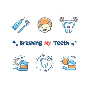 Incorporate brushing teeth into a routine